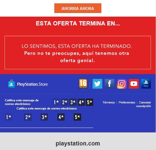 Mailing con ofertas y calendario de adviento 02 - Play Station