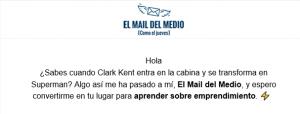 Mail del medio [Como el jueves]