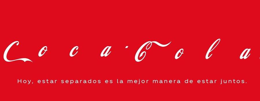 Campañas de publicidad creativas con motivo del coronavirus - Cocacola
