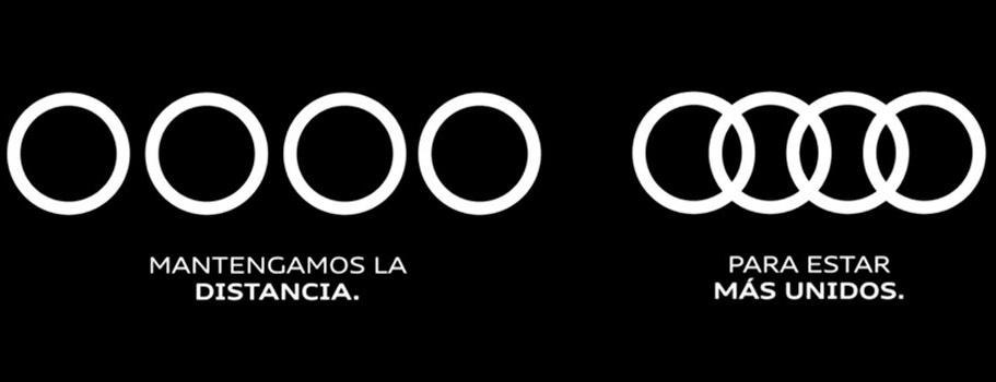Campañas de publicidad creativas con motivo del coronavirus - Audi