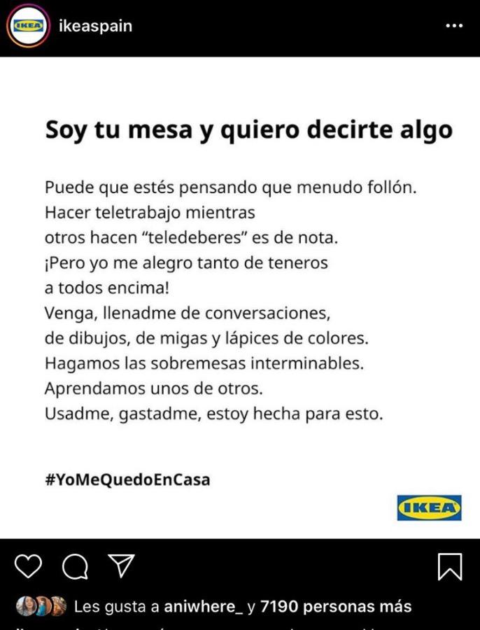 Campañas de publicidad creativas con motivo del coronavirus - Ikea2