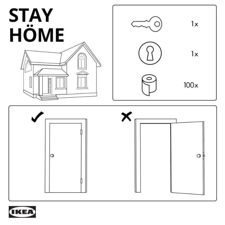 Campañas de publicidad creativas con motivo del coronavirus - Ikea