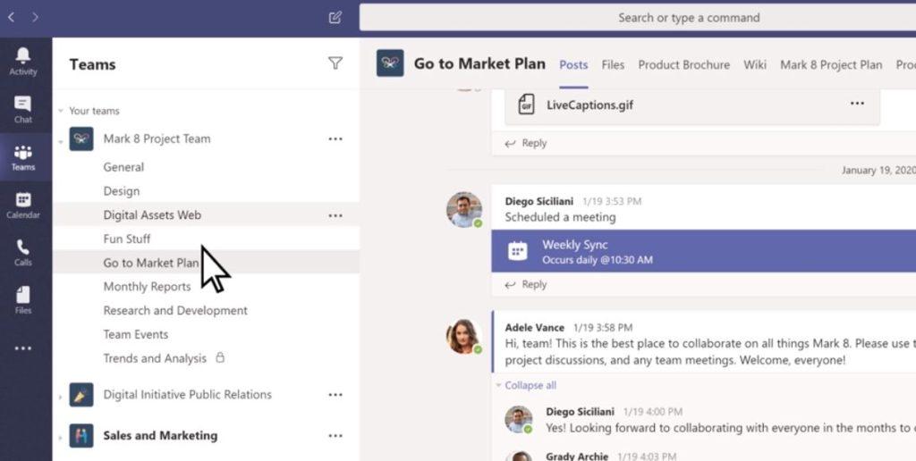 Teams - Las mejores herramientas de marketing digital